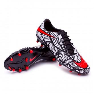 Chuteira  Nike Hypervenom Phatal II Neymar FG Black-Bright crimson-White