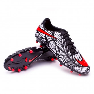 Boot  Nike Hypervenom Phelon II Neymar FG Black-Bright crimson-White