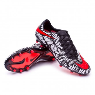 Boot  Nike Hypervenom Phinish Neymar FG Black-Bright crimson-White