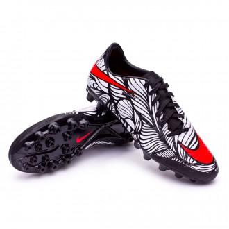 Chaussure  Nike Hypervenom Phelon II Neymar AG-R Black-Bright crimson-White