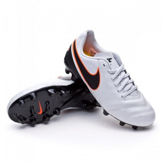 Chuteira  Nike Jr Tiempo Legend FG Pure platinum-Black-Metallic silver