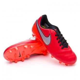 Bota  Nike Jr Tiempo Genio FG Light crimson-Metallic silver-Total crimson