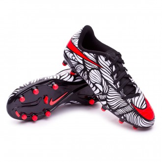 Chaussure  Nike Jr Hypervenom Phelon II Neymar FG Black-Bright crimson-White
