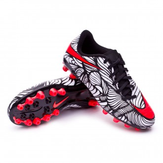 Chaussure  Nike Jr Hypervenom Phelon II Neymar AG Black-Bright crimson-White