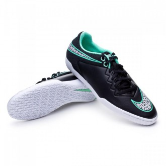 Zapatilla  Nike HypervenomX Pro IC Black-White-Green glow