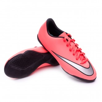 Chaussure  Nike Jr Mercurial Victory V IC Bright mango-Metallic silver-Hyper turquoise