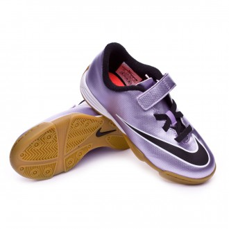 Zapatilla  Nike Jr Mercurial Vortex II velcro IC Urban lilac-Black-Bright mango