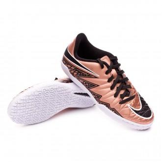 Zapatilla  Nike Jr Hypervenom Phelon II IC Metallic red-Black-White