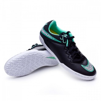 Zapatilla  Nike Jr HypervenomX Pro IC Black-White-Green glow