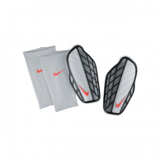 Espinillera  Nike Protegga Stadium Silver-Black