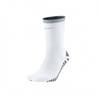 Socks  Nike Grip Strike Crew White-Wolf grey