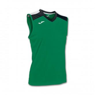 Camiseta  Joma s/m Volley Aloe woman Verde-Negro