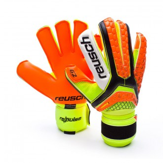Luvas  Reusch Re:pulse Pro G2 Black-Shocking orange
