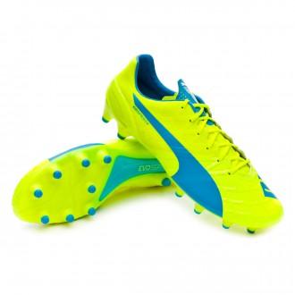 Bota  Puma evoSPEED 1.4 FG Safety yellow-Atomic blue-White