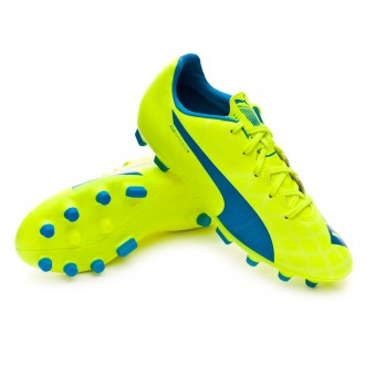 Chuteira  Puma Jr evoSPEED 5.4 AG Safety yellow-Atomic blue-White