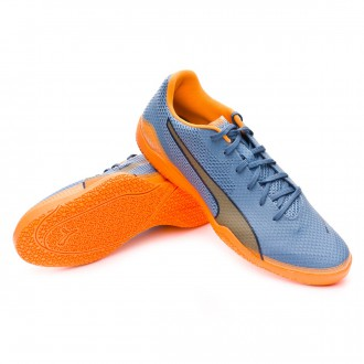 Zapatilla de fútbol sala  Puma Invicto Fresh Blue heaven-Orange pop-Blue wing teal