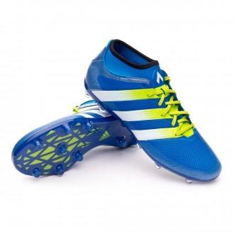 Boot  adidas Ace 16.2 Primemesh FG/AG Shock blue-Semi solar slime-White