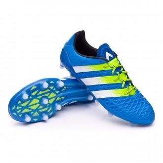 Boot  adidas Ace 16.1 FG/AG Shock blue-Semi solar slime-White