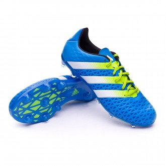 Boot  adidas Ace 16.2 FG/AG Shock blue-Semi solar slime-White