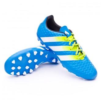 Boot  adidas Ace 16.3 AG Shock blue-Semi solar slime-White