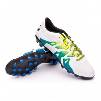 Chaussure  adidas X 15.3 AG Crystal white-Core black-Semi solar slime