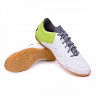 Zapatilla de fútbol sala  adidas X 15.3 CT Crystal white-Semi solar slime-Dark grey