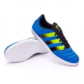 Zapatilla de fútbol sala  adidas Ace 16.4 ST Shock blue-Semi solar slime-White