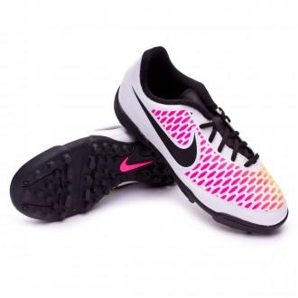 Chaussure  Nike jr Magista Ola TF White-Pink blast-Volt