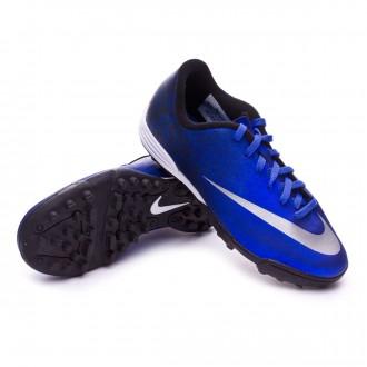Chaussure  Nike jr Mercurial Vortex II CR TF Royal blue-Metallic silver-Black