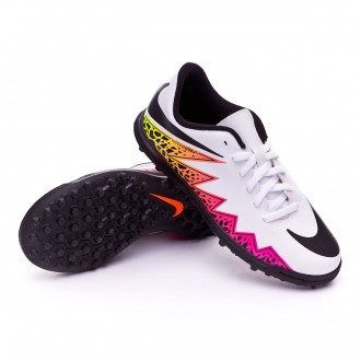 Bota  Nike jr HyperVenom Phade II TF White-Total orange-Volt