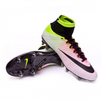 Chuteira  Nike Mercurial Superfly ACC SG-PRO White-Volt-Total orange