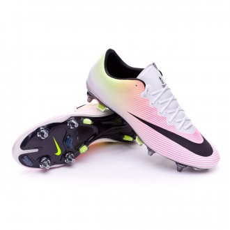 Chuteira  Nike Mercurial Vapor X ACC SG-PRO White-Volt-Total orange