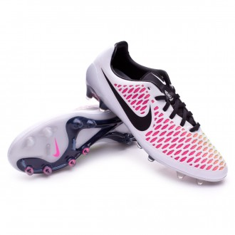 Chuteira  Nike Magista Opus ACC FG White-Pink blast-Volt