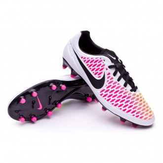 Chuteira  Nike Magista Orden FG White-Pink blast-Volt