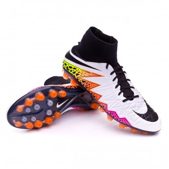 Chaussure  Nike HyperVenom Phatal II Dynamic Fit AG-R White-Total orange-Volt