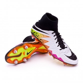 Chuteira  Nike HyperVenom Phatal II Dynamic Fit SG-PRO White-Total orange-Volt