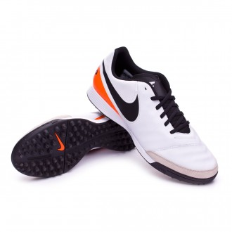 Bota  Nike Tiempo Genio Leather II TF White-Total orange