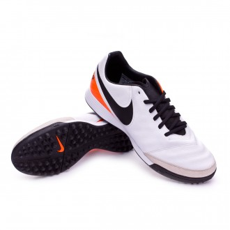 Bota  Nike Tiempo Mystic V TF White-Total orange