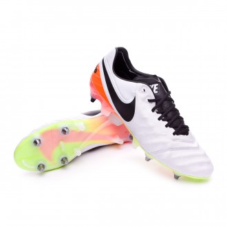 Chuteira  Nike Tiempo Legend 6 ACC SG-PRO White-Total orange-Volt