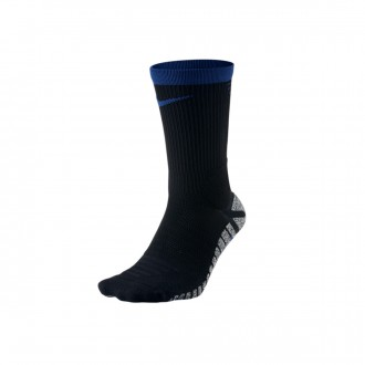 Socks  Nike Grip Strike Crew Black-Deep royal blue