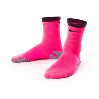 Chaussettes  Nike Grip Strike Crew Hyper pink-Black