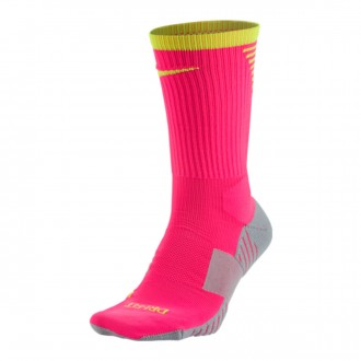 Chaussettes  Nike Stadium Crew Hyper pink-Volt