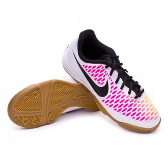 Zapatilla de fútbol sala  Nike jr Magista Ola IC White-Pink blast-Volt