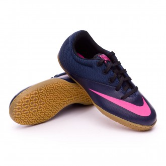 Zapatilla de fútbol sala  Nike jr MercurialX Pro IC Navy-Pink blast-Black