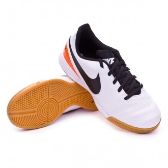 Zapatilla de fútbol sala  Nike jr Tiempo Legend 6 IC White-Total orange