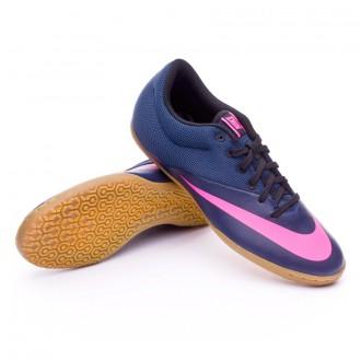 Zapatilla de fútbol sala  Nike MercurialX Pro IC Navy-Pink blast-Black
