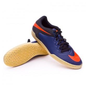 Zapatilla de fútbol sala  Nike HyperVenomX Pro IC Navy-Total orange-Black-Light bone