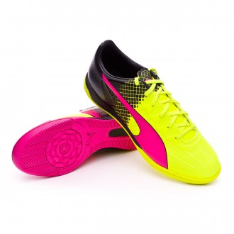 Zapatilla de fútbol sala  Puma evoSpeed 4.5 IT Tricks Pink glo-Safety yellow-Black