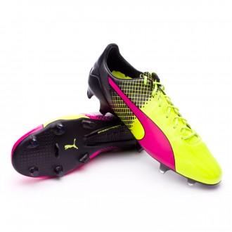 Chuteira  Puma evoSpeed 1.5 FG Tricks Pink glo-Safety yellow-Black