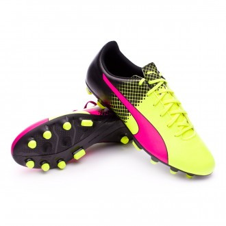 Boot  Puma evoSpeed 5.5 AG Tricks Pink glo-Safety yellow-Black
